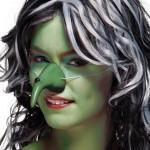 Heksenneus groen met elastiek