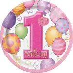 Borden 1e verjaardag pink
