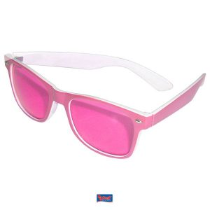 Bril Blues Brothers roze-wit