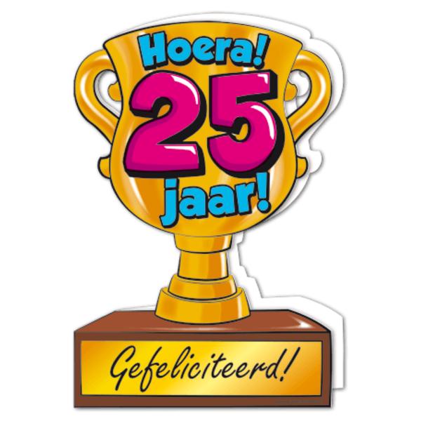 gefeliciteerd hoera 25 jaar - feestartikelen bestellen 25 jaar