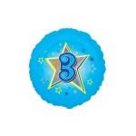 Folieballon blauwe ster 3