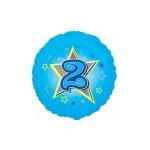 Folieballon Blauwe ster 2 jaar