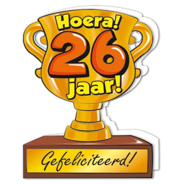 26 jaar Gefeliciteerd hoera 26 jaar   feestartikelen bestellen 26 jaar  26 jaar