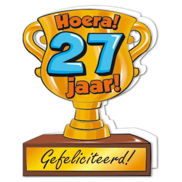 27 jaar Gefeliciteerd hoera 27 jaar   feestartikelen bestellen 27 jaar  27 jaar