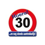 Huldeschild Hoera 30