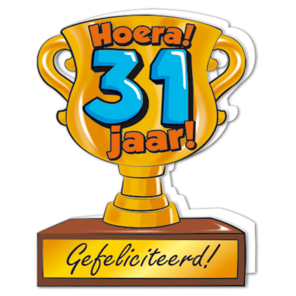 31 jaar verjaardag Gefeliciteerd hoera 31 jaar   feestartikelen bestellen 31 jaar  31 jaar verjaardag