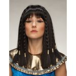 Damespruik Cleopatra lang