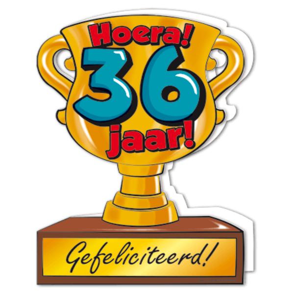 Gefeliciteerd Hoera 36 Jaar Feestartikelen Bestellen 36 Jaar