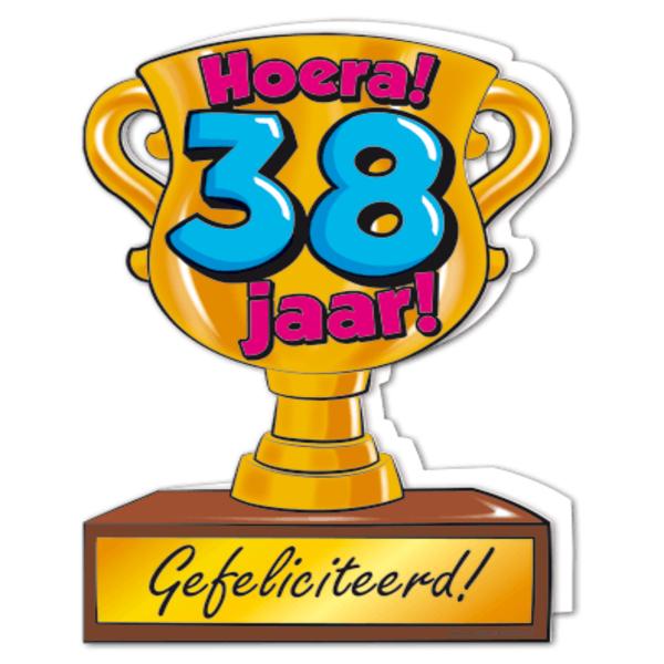 38 jaar Gefeliciteerd hoera 38 jaar   feestartikelen bestellen 38 jaar  38 jaar