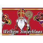 Gevelvlag welkom Sinterklaas