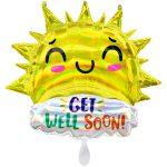 Folieballon XXL get well happy sun