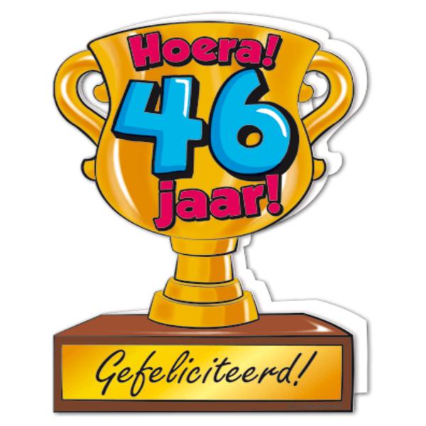 gefeliciteerd 46 jaar Gefeliciteerd hoera 46 jaar   feestartikelen bestellen 46 jaar  gefeliciteerd 46 jaar