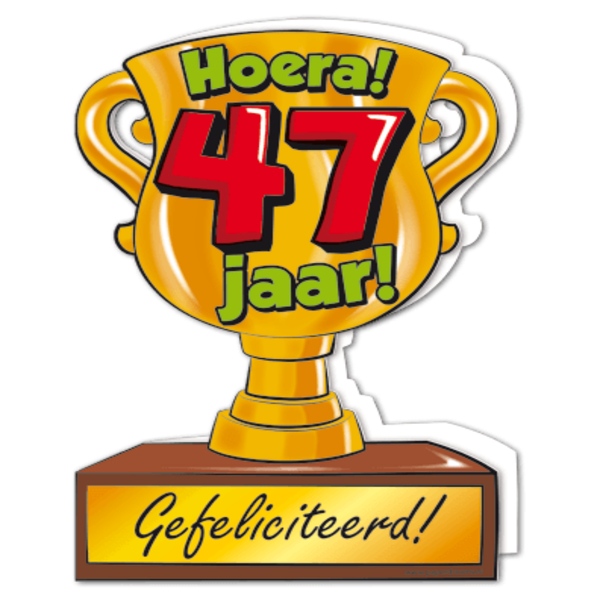 47 jaar Gefeliciteerd hoera 47 jaar   feestartikelen bestellen 47 jaar  47 jaar