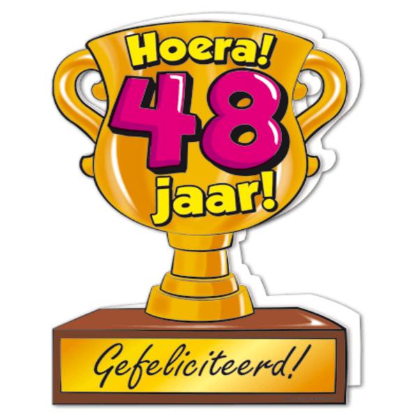 48 jaar Gefeliciteerd hoera 48 jaar   feestartikelen bestellen 48 jaar  48 jaar
