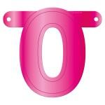 Banner letter roze 0