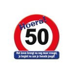 Huldeschild Hoera 50