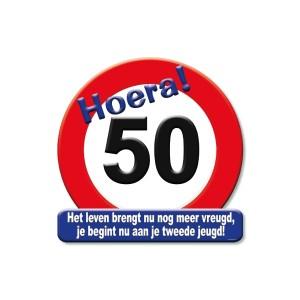 Huldeschild Hoera 50