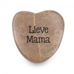 Marmeren gelukshart lieve mama