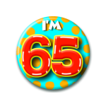 Button I'm 65