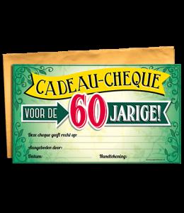 Cadeau cheque 60 jaar