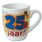 Cartoon mok 25 jaar