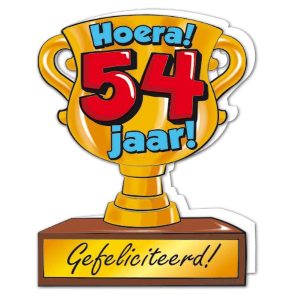 54 jaar Gefeliciteerd hoera 54 jaar   feestartikelen bestellen 54 jaar  54 jaar
