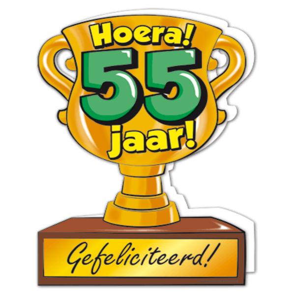 Gefeliciteerd Hoera 55 Jaar Feestartikelen Bestellen 55 Jaar