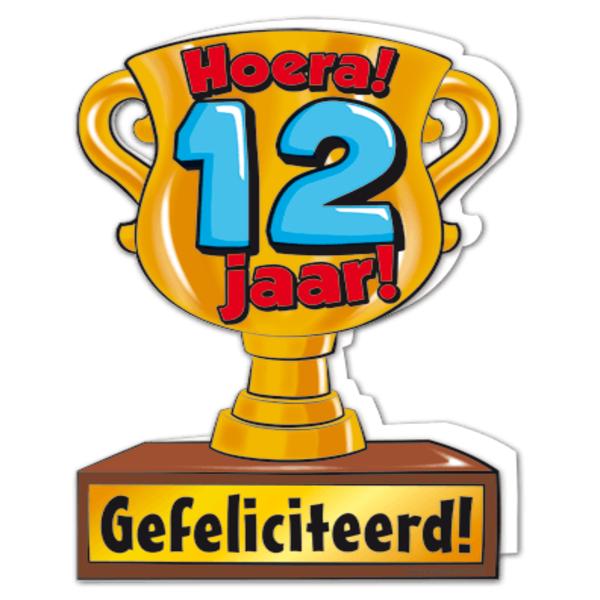 Gefeliciteerd Hoera 12 Jaar Feestartikelen Bestellen 12 Jaar