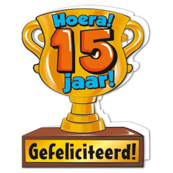 hoera 15 jaar Gefeliciteerd hoera 15 jaar   feestartikelen bestellen 15 jaar  hoera 15 jaar