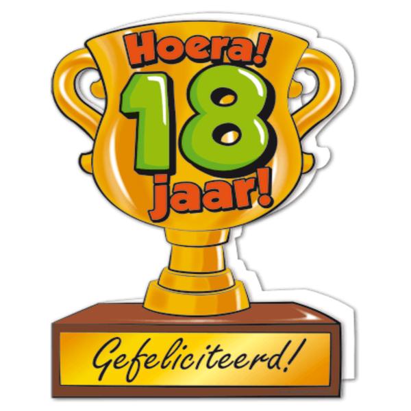 gefeliciteerd hoera 18 jaar - feestartikelen bestellen 18 jaar
