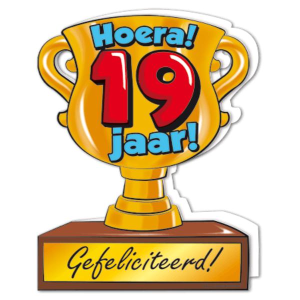 gefeliciteerd 19 jaar Gefeliciteerd hoera 19 jaar   feestartikelen bestellen 19 jaar  gefeliciteerd 19 jaar