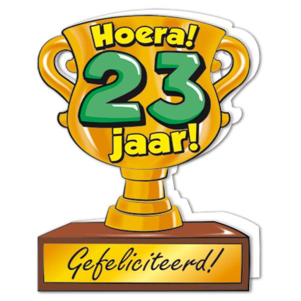 gefeliciteerd 23 jaar Gefeliciteerd hoera 23 jaar   feestartikelen bestellen 23 jaar  gefeliciteerd 23 jaar