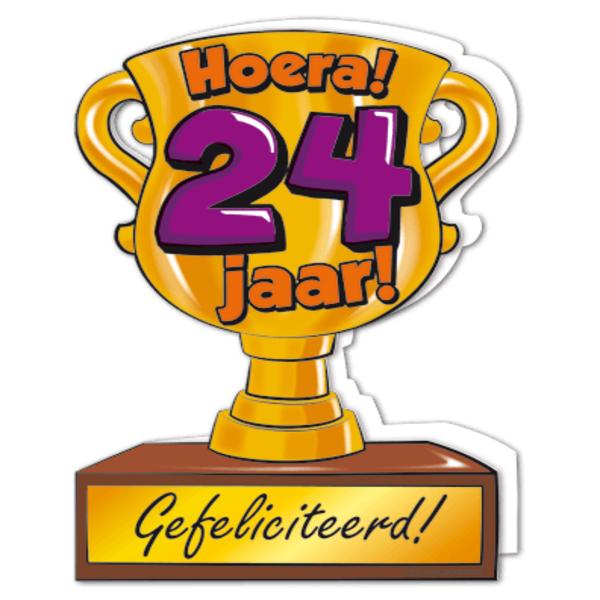 gefeliciteerd 24 jaar Gefeliciteerd hoera 24 jaar   feestartikelen bestellen 24 jaar  gefeliciteerd 24 jaar