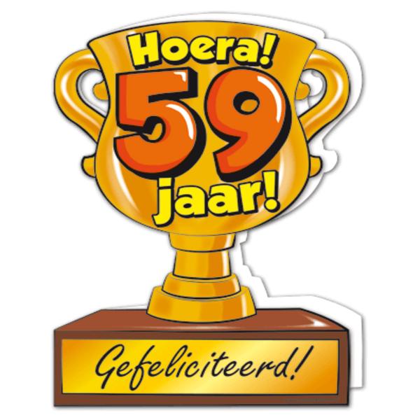 59 jaar Gefeliciteerd hoera 59 jaar   feestartikelen bestellen 59 jaar  59 jaar