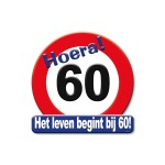 Huldeschild Hoera 60