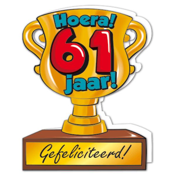 61 jaar Gefeliciteerd hoera 61 jaar   feestartikelen bestellen 61 jaar  61 jaar