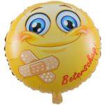 Folieballon emoticon beterschap
