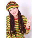 Bob Marley baret-pet met rasta haar
