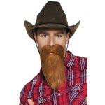 Baard met snor bruin cowboy