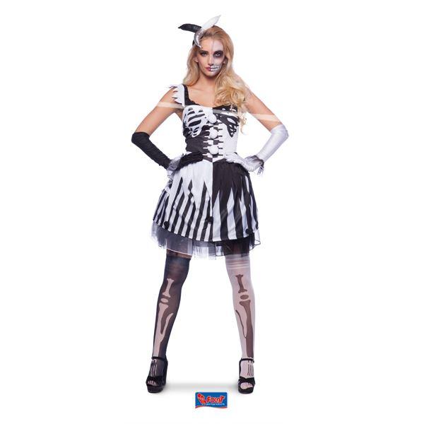 Carnavalskleding Xl Dames.Skeleton Clown Dames Zwart Wit Mt X L Feestartikelen Bestellen