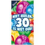 Tissuebox Niet huilen 30 is niet oud