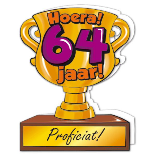 64 jaar Gefeliciteerd hoera 64 jaar   feestartikelen bestellen 64 jaar  64 jaar