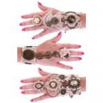 Armband kant met ring Steampunk