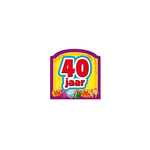 kadoartikelen 40 jaar Sticker 40 jaar kadoartikelen feestje Den Helder | Kitty's Heksenketel kadoartikelen 40 jaar