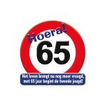 Huldeschild Hoera 65