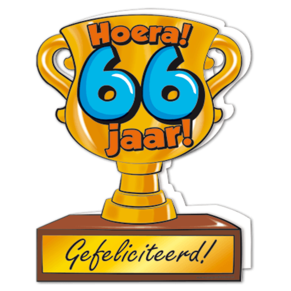 66 jaar Gefeliciteerd hoera 66 jaar   feestartikelen bestellen 66 jaar  66 jaar