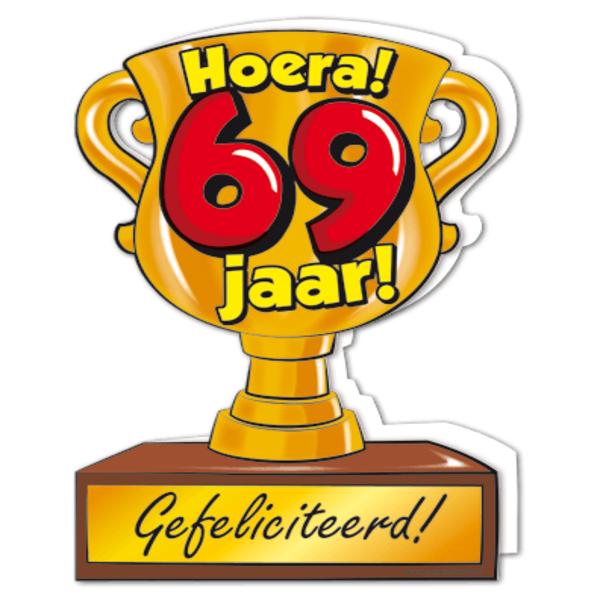 69 jaar Gefeliciteerd hoera 69 jaar   feestartikelen bestellen 69 jaar  69 jaar