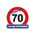 Huldeschild Hoera 70