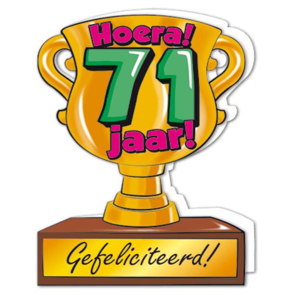 71 jaar Gefeliciteerd hoera 71 jaar   feestartikelen bestellen 71 jaar  71 jaar