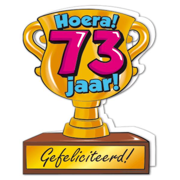 73 jaar Gefeliciteerd hoera 73 jaar   feestartikelen bestellen 73 jaar  73 jaar